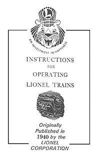 Instructions for Operating Lionel Trains