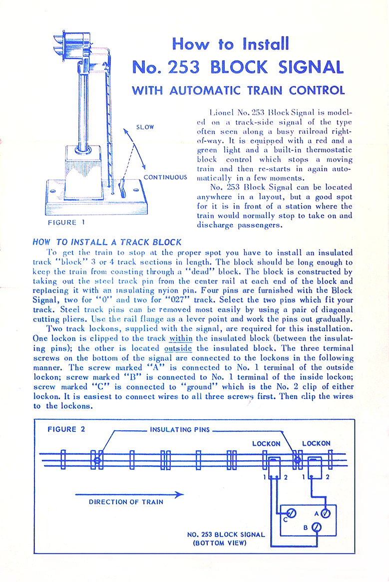 Lionel Trains 253 Block Control Signal Accessory