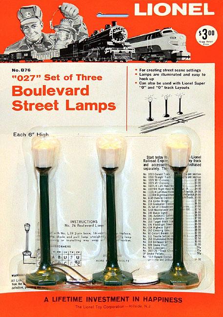 Lionel Trains 76 Boulevard Lamp Post Accessory