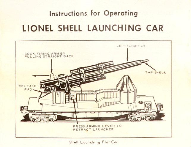 Lionel Trains U S M C Cannon Flat Car No