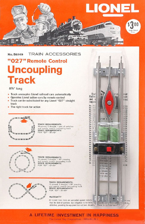 lionel trains remote control uncoupling track no b6149 blister pack