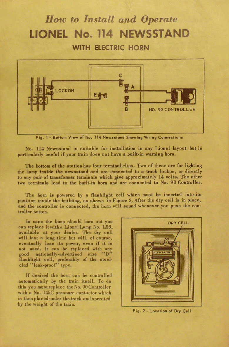 no  114-32 instruction sheet front page