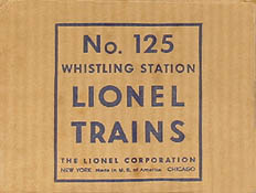 lionel trains 125 whistle station accessory