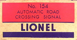 LIONEL TRAINS 154 HIGHWAY SIGNAL ACCESSORY