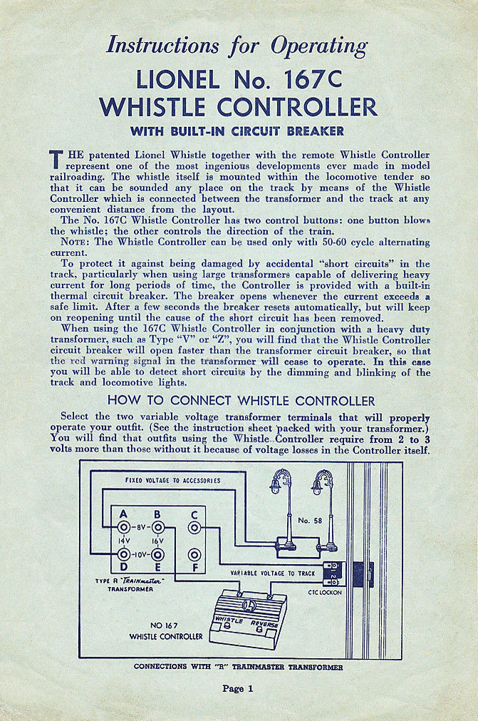 instruction sheet no  167-29