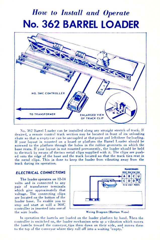 Lionel Trains 362 Barrel Loader Accessory
