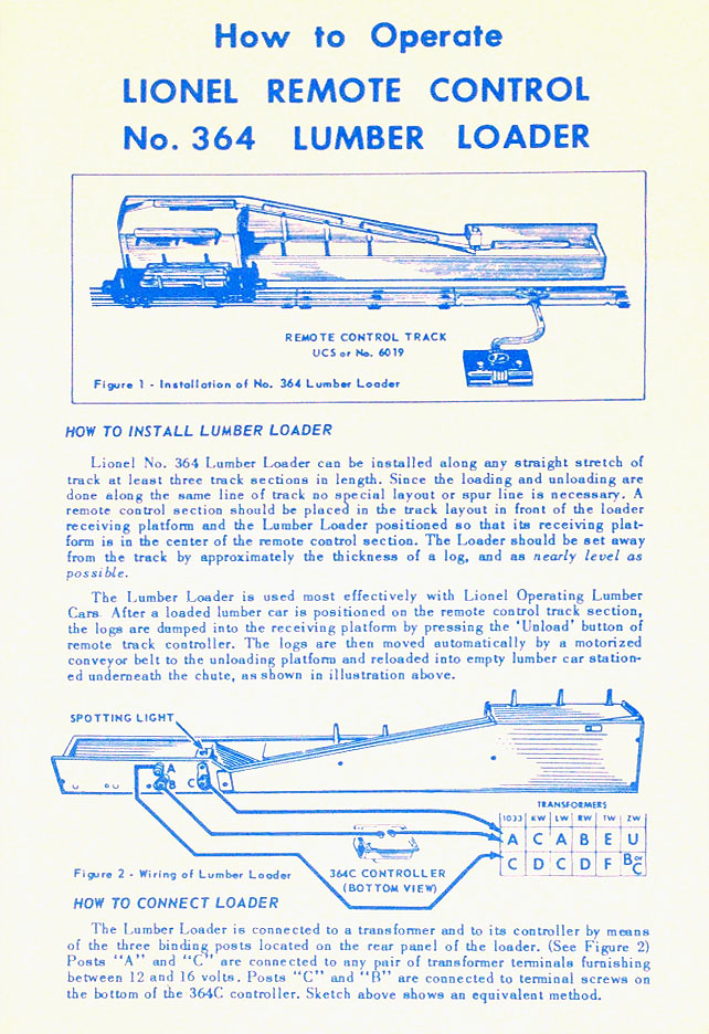 acc364 85_ident_instructions_front lionel trains 364 conveyor log loader accessory lionel 6019 wiring diagram at readyjetset.co