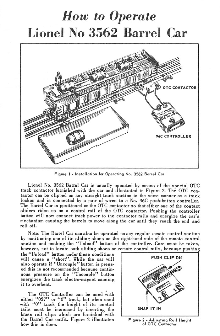 No. 3562-54 Instruction Sheet Front Page