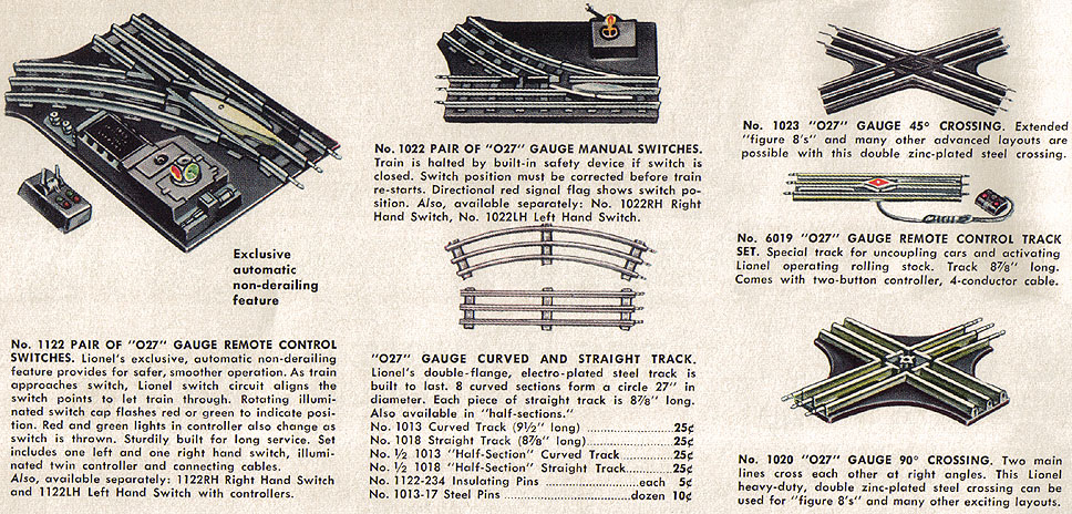 LIONEL ELECTRIC TOY TRAIN TRACK IDENTIFICATION GUIDE – Lionel Remote Control Track Wiring Diagrams